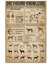 Greyhound Knowledge 11x17 Poster front
