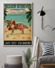 Vintage Swimming Club Golden Retriever 11x17 Poster lifestyle-poster-1