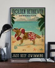 Vintage Swimming Club Golden Retriever 11x17 Poster lifestyle-poster-2