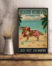 Vintage Swimming Club Golden Retriever 11x17 Poster lifestyle-poster-3