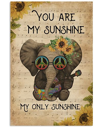 Music Sheet You Are My Sunshine Elephant