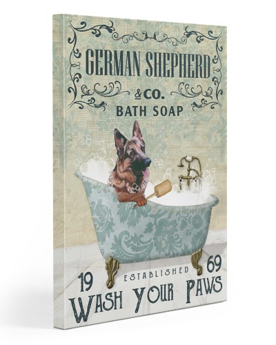 Vintage Green Bath Soap German Shepherd