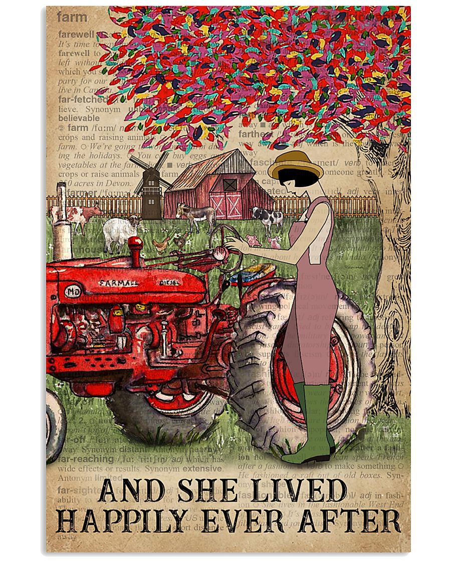 Dictionary Lived Happily Farm Girl 11x17 Poster