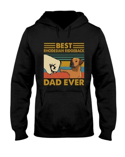 Retro Blue Rhodesian Ridgeback Dad Ever
