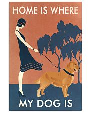 Vintage Girl Home Is Golden Retriever 11x17 Poster front