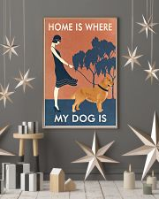 Vintage Girl Home Is Golden Retriever 11x17 Poster lifestyle-holiday-poster-1