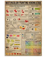 Watercolor Painting Knowledge 11x17 Poster front