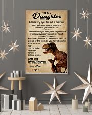 To My Daughter I Closed My Eyes Dinosaur Mom 11x17 Poster lifestyle-holiday-poster-1