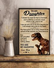 To My Daughter I Closed My Eyes Dinosaur Mom 11x17 Poster lifestyle-poster-3