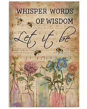 Watercolor Whisper Words Of Wisdom Music Sheet Bee 11x17 Poster front