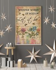 Watercolor Whisper Words Of Wisdom Music Sheet Bee 11x17 Poster lifestyle-holiday-poster-1