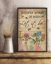 Watercolor Whisper Words Of Wisdom Music Sheet Bee 11x17 Poster lifestyle-poster-3
