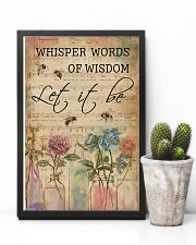 Watercolor Whisper Words Of Wisdom Music Sheet Bee 11x17 Poster lifestyle-poster-8
