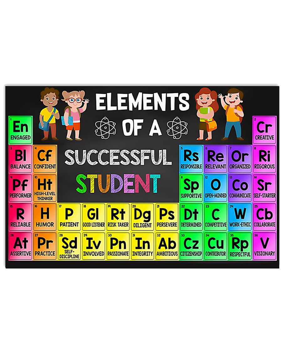Elements Of A Successful Student 17x11 Poster
