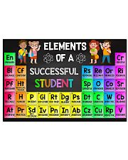 Elements Of A Successful Student 17x11 Poster front