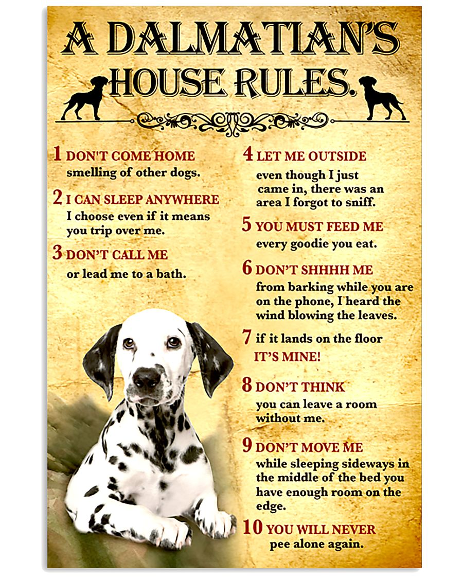 Dalmatian House Rules 11x17 Poster