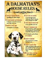 Dalmatian House Rules 11x17 Poster front