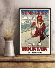 Some Girls Born With The Mountain Skiing 16x24 Poster lifestyle-poster-3