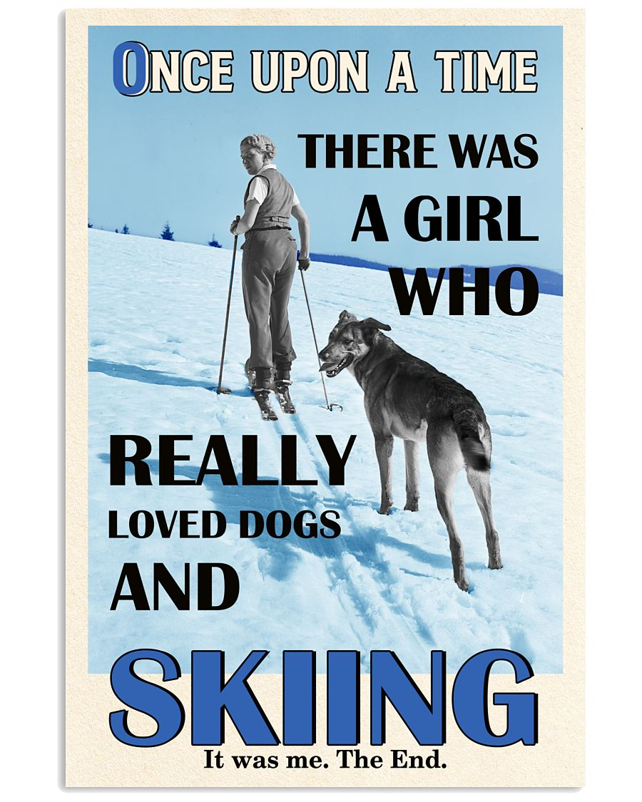 Once Upon A Time Dogs And Skiing 16x24 Poster