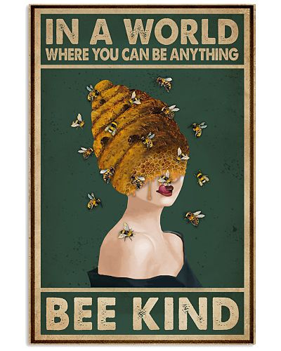 Retro Green Bee Kind Honey Bee Lady
