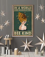 Retro Green Bee Kind Honey Bee Lady  11x17 Poster lifestyle-holiday-poster-1