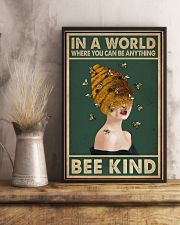 Retro Green Bee Kind Honey Bee Lady  11x17 Poster lifestyle-poster-3