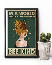 Retro Green Bee Kind Honey Bee Lady  11x17 Poster lifestyle-poster-8