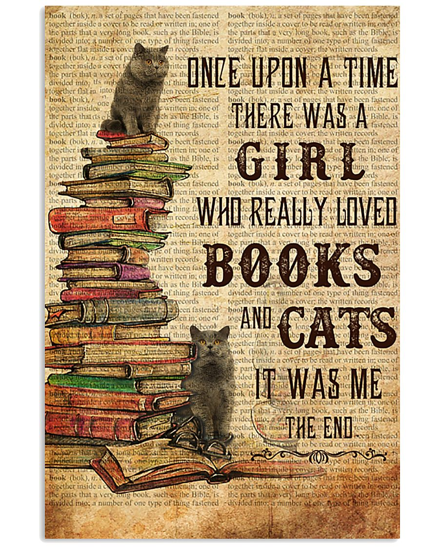 Books Cats Once Upon A Time British Shorthair 11x17 Poster