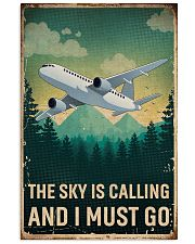 Retro Sky Is Calling Airplane 11x17 Poster front