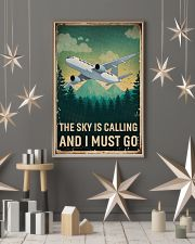 Retro Sky Is Calling Airplane 11x17 Poster lifestyle-holiday-poster-1