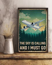 Retro Sky Is Calling Airplane 11x17 Poster lifestyle-poster-3