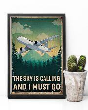 Retro Sky Is Calling Airplane 11x17 Poster lifestyle-poster-8