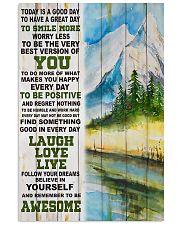 Hiking Be Awesome Today Is A Good Day 11x17 Poster front