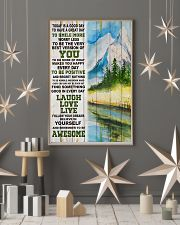 Hiking Be Awesome Today Is A Good Day 11x17 Poster lifestyle-holiday-poster-1