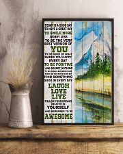 Hiking Be Awesome Today Is A Good Day 11x17 Poster lifestyle-poster-3