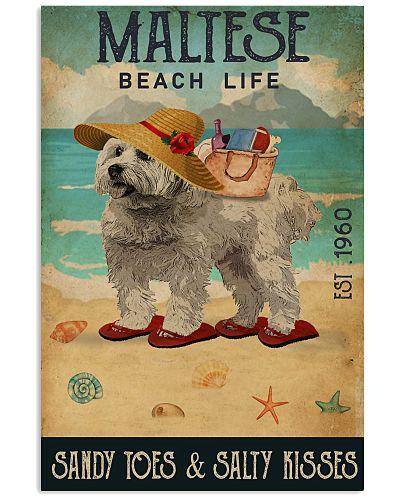 Beach Life Sandy Toes Maltese