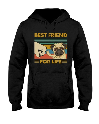 Retro Blue Best Friend For Life Pug