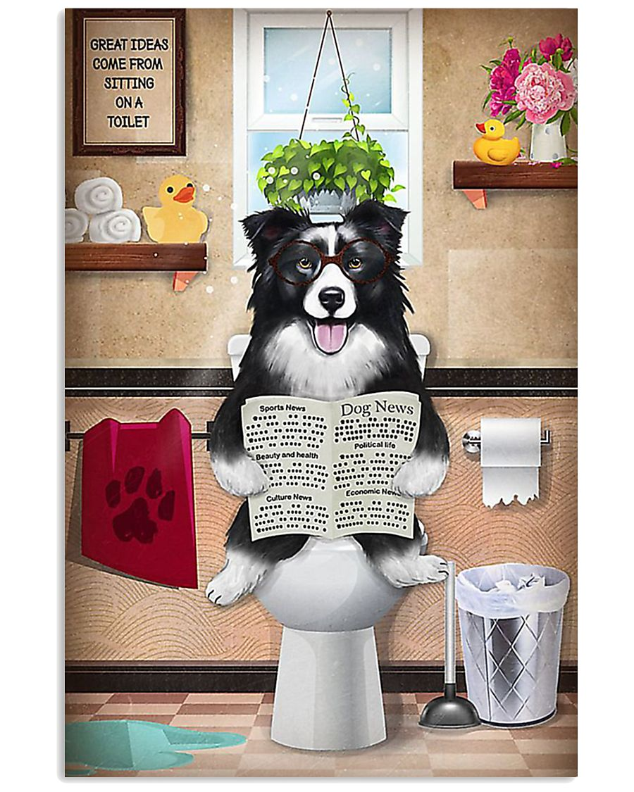 Border Collie Reading Dog News 11x17 Poster