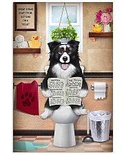 Border Collie Reading Dog News 11x17 Poster front