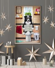 Border Collie Reading Dog News 11x17 Poster lifestyle-holiday-poster-1
