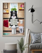 Border Collie Reading Dog News 11x17 Poster lifestyle-poster-1