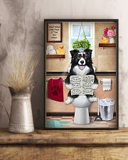 Border Collie Reading Dog News 11x17 Poster lifestyle-poster-3