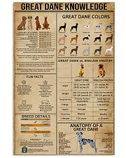 Great Dane Knowledge 11x17 Poster front