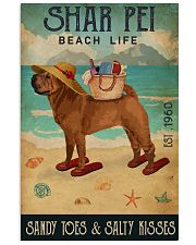 Beach Life Sandy Toes Shar Pei 11x17 Poster front