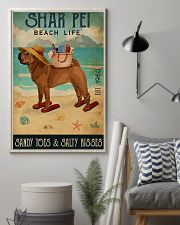 Beach Life Sandy Toes Shar Pei 11x17 Poster lifestyle-poster-1