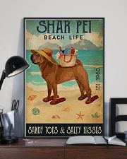 Beach Life Sandy Toes Shar Pei 11x17 Poster lifestyle-poster-2