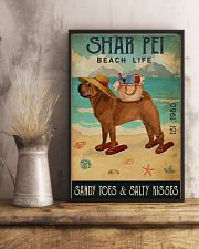Beach Life Sandy Toes Shar Pei 11x17 Poster lifestyle-poster-3