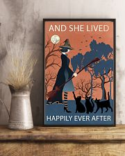 Vintage Girl Witch Lived Happily 11x17 Poster lifestyle-poster-3
