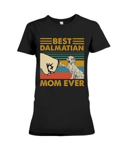 Retro Blue Best Dalmatian Mom Ever