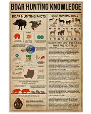Boar Hunting Knowledge 11x17 Poster front